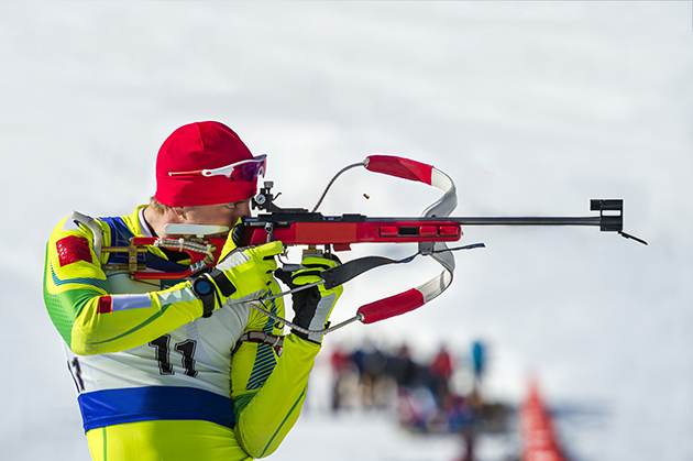 Anyone can miss: Few clean targets at Olympic biathlon
