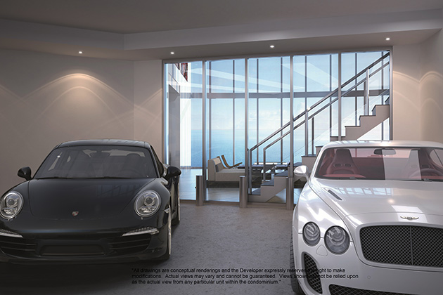 Would you park your Porsche in the living room?