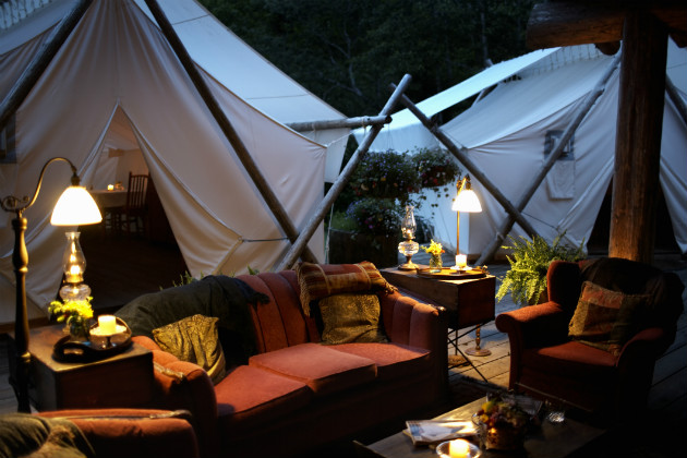 Glamping is a hot trend for 2014
