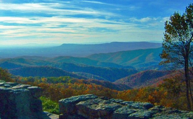 Virginia's picturesque Skyline Drive is for lovers