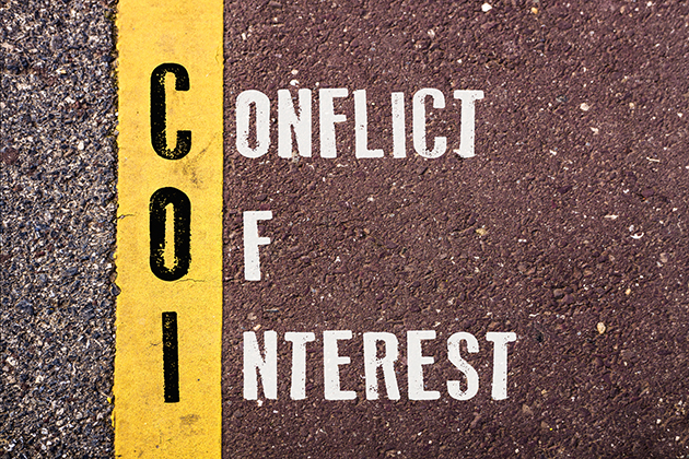 Conflict of interest: To seem is to be
