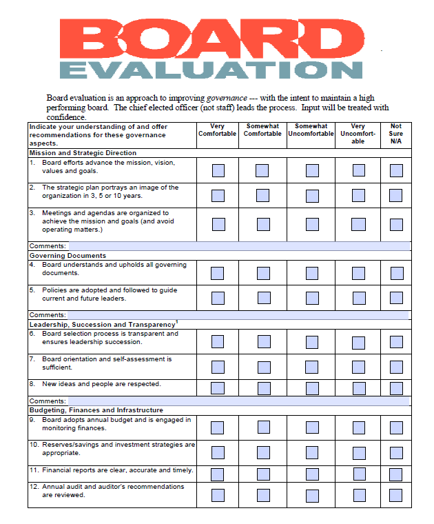 multibrief  evaluating the board u2019s performance