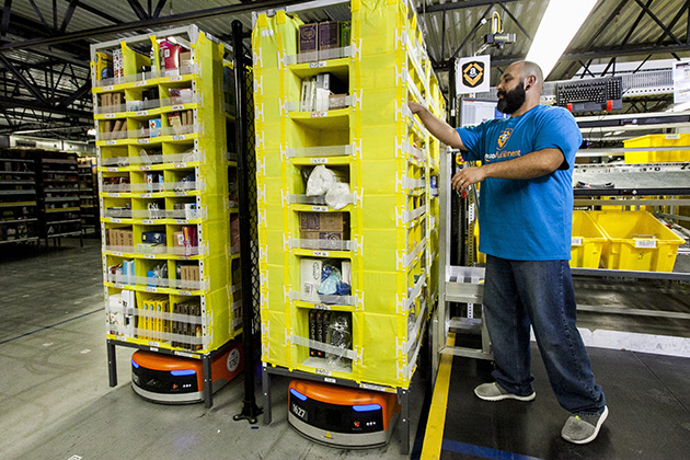 Workers put spotlight on Amazon's less-than-'Prime' labor practices