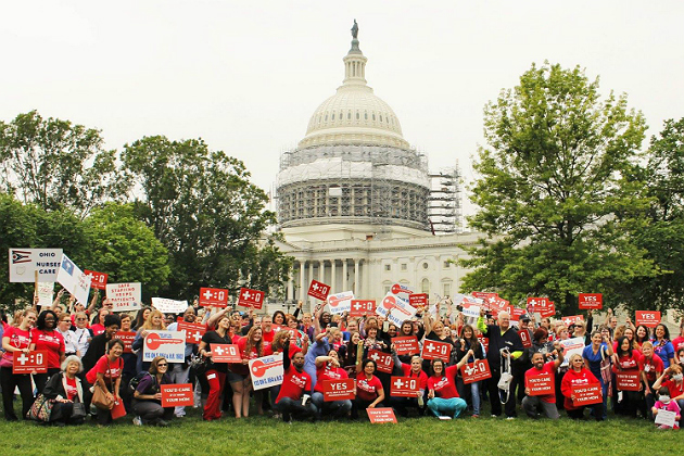 Nurses rally in DC to address staffing issues with Congress