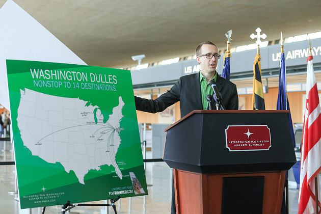 Frontier targets Washington Dulles for mass expansion