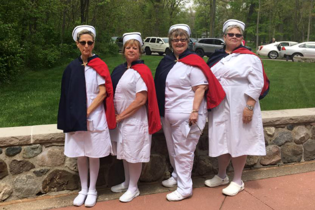Nurses honor guards pay tribute to those who serve