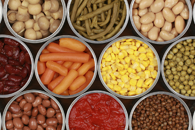 Study: Canned foods contain high amounts of BPA