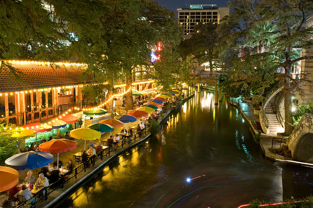 Biking on San Antonio's River Walk