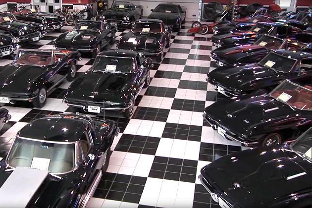 A Carolina crop of all-black Corvettes