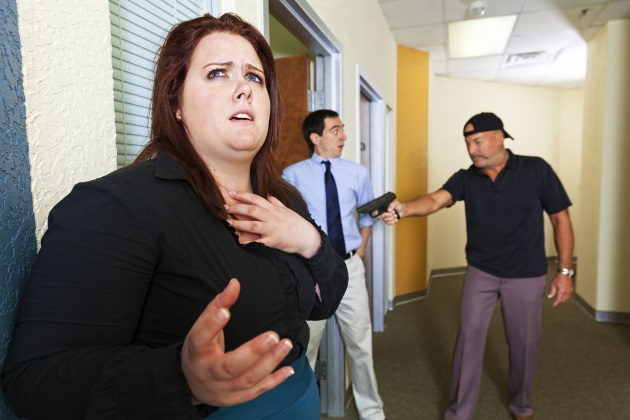 How can employers prepare for an active shooter in the workplace?