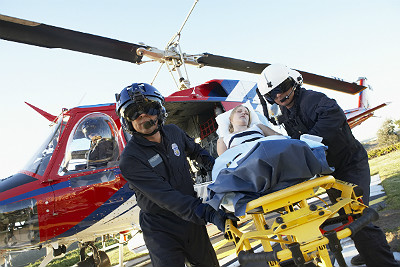 Should doctors fly in helicopters?