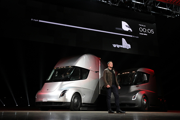 Easing off the gas: Tesla trucks are here