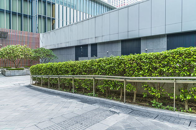 Use landscaping to cut down commercial energy consumption