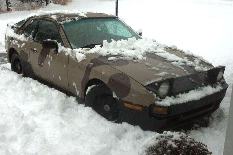Snowshoeing in a Porsche