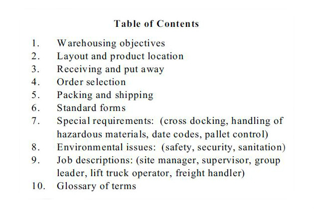 Multibrief Why And How To Prepare A Warehouse Operations Manual